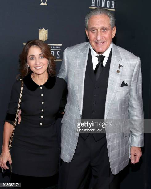 Angela Macuga and Arthur Blank attend the NFL Honors at University of Minnesota on February 3 2018 in Minneapolis Minnesota