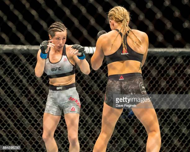 Angela Magana and Amanda Copper battle in the Octagon during a UFC bout at Little Caesars Arena on December 2 2017 in Detroit Michigan Copper...