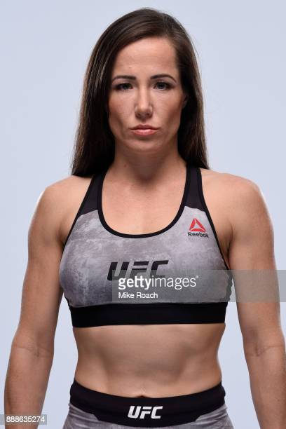Angela Magana poses for a portrait during a UFC photo session on November 29 2017 in Detroit Michigan