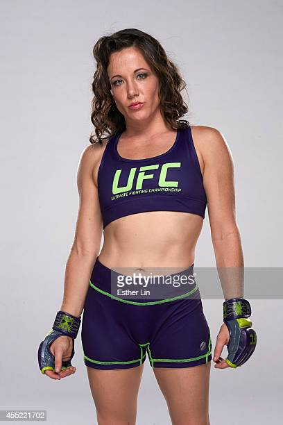 Angela Magana poses for a portrait during the TUF 20 Media Day session at the TUF gym on July 3 2014 in Las Vegas Nevada