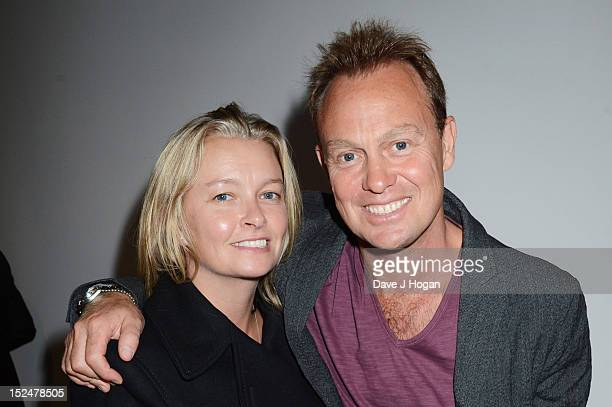 Angela Malloch and Jason Donovan attend the press night for Jesus Christ Superstar, the arena tour at The O2 Arena on September 21, 2012 in London,...