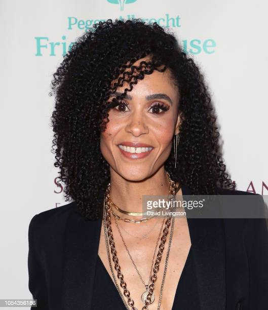 Angela ManuelDavis attends the Peggy Albrecht Friendly House's 29th Annual Awards Luncheon at The Beverly Hilton Hotel on October 27 2018 in Beverly...