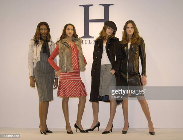 Angela Marie Jessica White Michelle Alves and Frankie Rayder wearing Tommy Hilfiger