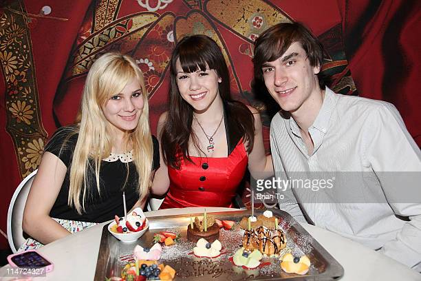 Angela Marie Playboy's 2011 Playmate of the Year Claire Sinclair and boyfriend Marston Hefner celebrate her 20th birthday at sbe's Katsuya Hollywood...