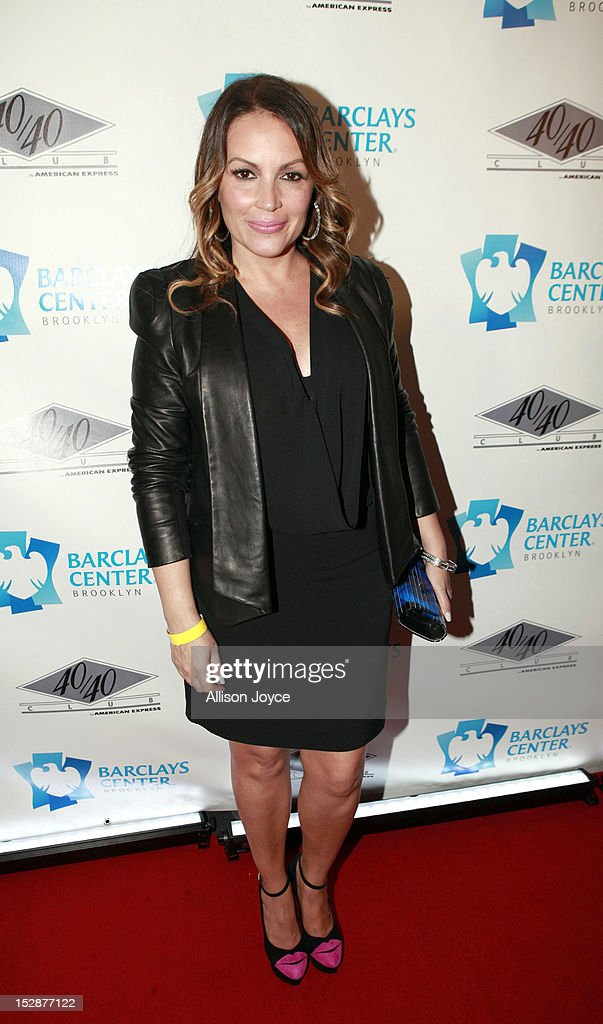 Angela Martinez attends the grand opening of the 40/40 Club at Barclays Center on September 27, 2012 in the Brooklyn borough of New York City.