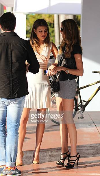 Angela Martini and Alicia Rountree are seen on December 4 2013 in Miami Beach Florida
