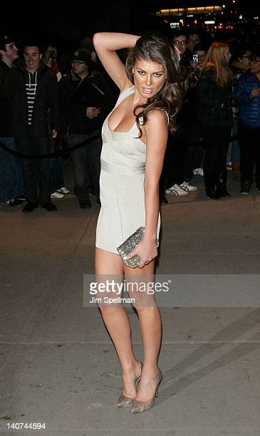 Angela Martini attends the Cinema Society People StyleWatch with Grey Goose screening of 'Friends With Kids' at the SVA Theater on March 5 2012 in...