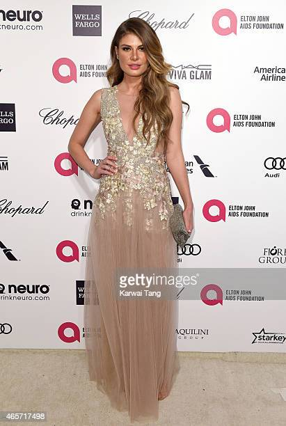 Angela Martini attends the Elton John AIDS Foundation's 23rd annual Academy Awards Viewing Party at The City of West Hollywood Park on February 22...