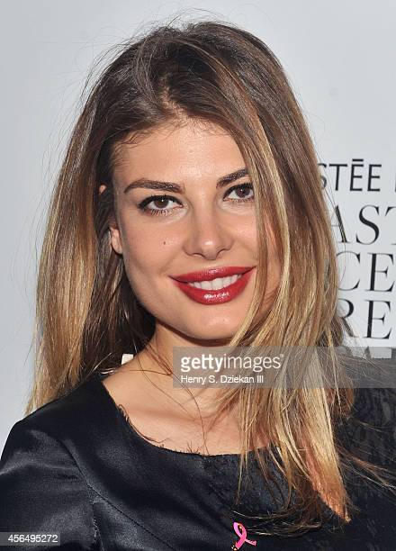 Angela Martini attends The Estee Lauder Companies Breast Cancer Awareness Campaign and The Cinema Society special screening of 'Hear Our Stories...