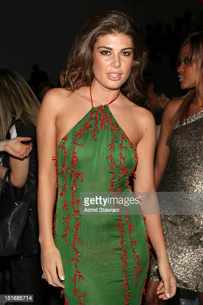 Angela Martini attends the Zang Toi Spring 2013 fashion show during MercedesBenz Fashion Week at The Stage at Lincoln Center on September 9 2012 in...