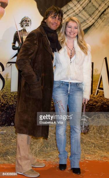 Angela Melillo and husband Ezio Bastianelli attend 'Australia' Rome Screening at Auditorium Conciliazione on January 15 2009 in Rome Italy