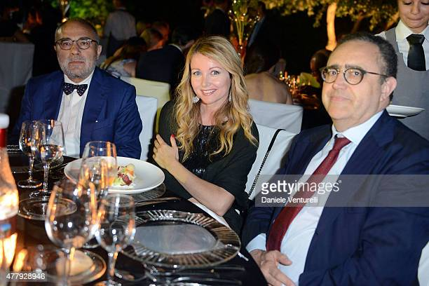 Angela Melillo attends the Baume Mercier and Grazia Gala Dinner 61st Taormina Film Fest on June 20 2015 in Taormina Italy