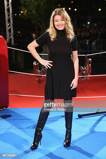Angela Melillo attends the 'Grudge Match' premiere at The Space Moderno on January 7 2014 in Rome Italy