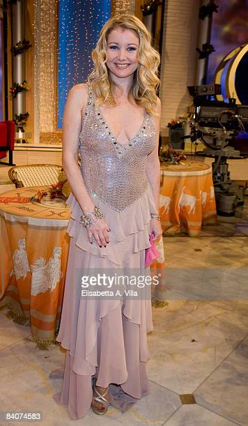 Angela Melillo attends the Italian TV program '2009 Horoscope' by Paolo Fox on December 17 2008 in Rome Italy
