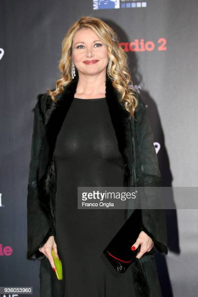 Angela Melillo walks a red carpet ahead of the 62nd David Di Donatello awards ceremony on March 21 2018 in Rome Italy