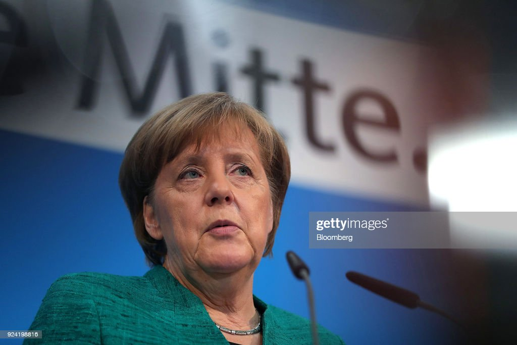 Germany's Chancellor Angela Merkel Announces New CDU Cabinet Positions