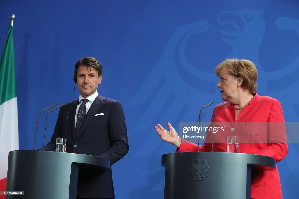 Germany's Chancellor Angela Merkel Meets Italy's Prime Minister Giuseppe Conte