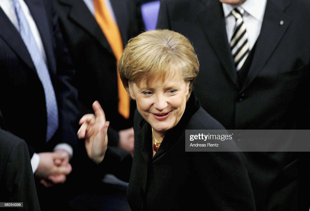 Merkel Named New German Chancellor : News Photo