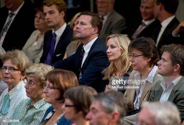 Angela Merkels Mother Herlind Kasner Merkels spokesperson Steffen Seibert Merkels media counselor Eva Christiansen and Merkels head of office Beate...
