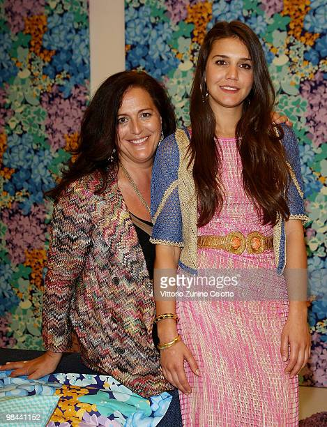 Angela Missoni and Margherita Maccapani Missoni attend the Missoni Home Milano cocktail party on April 13, 2010 in Milan, Italy.