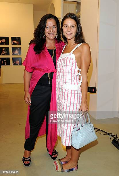 Angela Missoni and Margherita Missoni attend the 'Lisson Gallery Opens In Milan' on September 15 2011 in Milan Italy