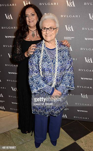 Angela Missoni and Rosita Missoni attend a private dinner celebrating the Victoria and Albert Museum's new exhibition 'The Glamour Of Italian Fashion...