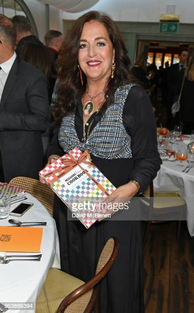 Angela Missoni attends a dinner hosted by the Missoni family to launch their new cookbook at Daphne's on May 2, 2018 in London, England.