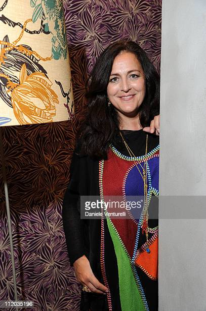 Angela Missoni attends the Missoni Home Luci e Ombre Cocktail Party during the Milan Design Week 2011 on April 11 2011 in Milan Italy