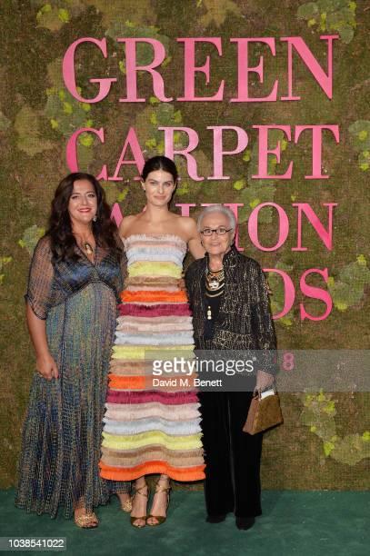 Angela Missoni, Isabeli Fontana, wearing Missoni, and Rosita Missoni attend The Green Carpet Fashion Awards Italia 2018 at Teatro Alla Scala on...