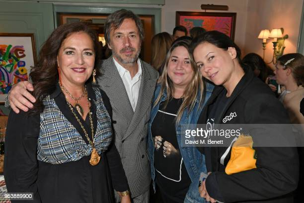 Angela Missoni Marc Newson Katie Lyall and Charlotte Stockdale attends a dinner hosted by the Missoni family to launch their new cookbook at Daphne's...