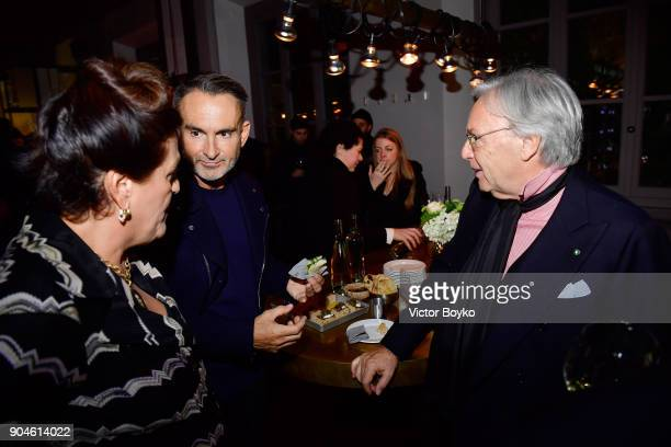 Angela Missoni Neil Barrett and Diego Della Valle attend the GQ Milan Cocktail Party during Milan Men's Fashion Week Fall/Winter 2018/19 on January...