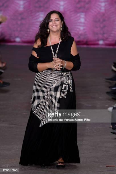 Angela Missoni walks the runway at the Missoni Spring/Summer 2012 fashion show as part Milan Womenswear Fashion Week on September 25, 2011 in Milan,...