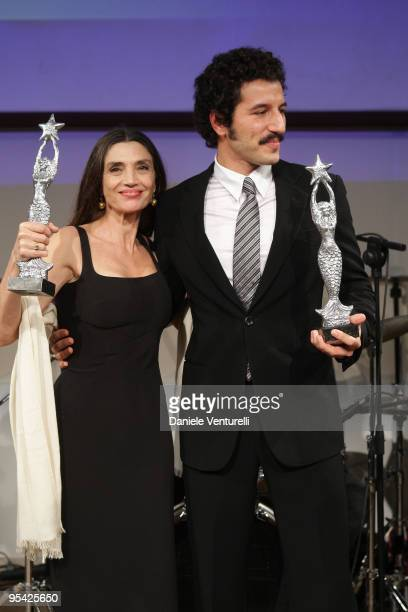 Angela Molina and Francesco Scianna attend the first day of the 14th Annual Capri Hollywood International Film Festival on December 27 2009 in Capri...