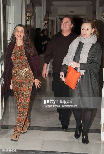 Angela Molina and Leo Blakstad attend XXVIII International Loewe Poetry Awards on March 10 2016 in Madrid Spain