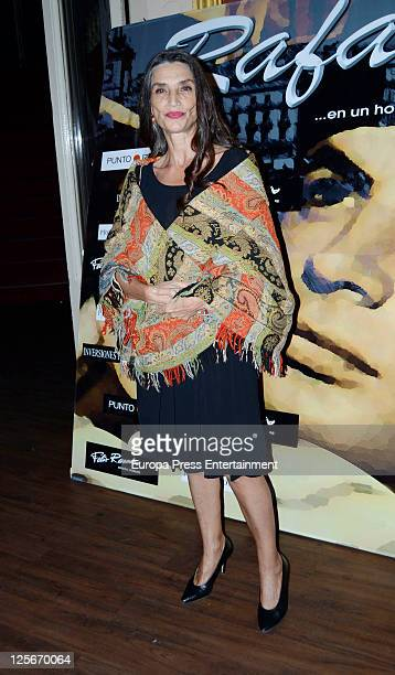 Angela Molina attends 'Cantando por Molina' premiere at Calderon Theatre on September 19 2011 in Madrid Spain This musical theatre play pays a...