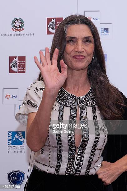 Angela Molina attends Italian Cinema festival 2013 in Madrid at Instituto Italiano de Cultura on November 21 2013 in Madrid Spain