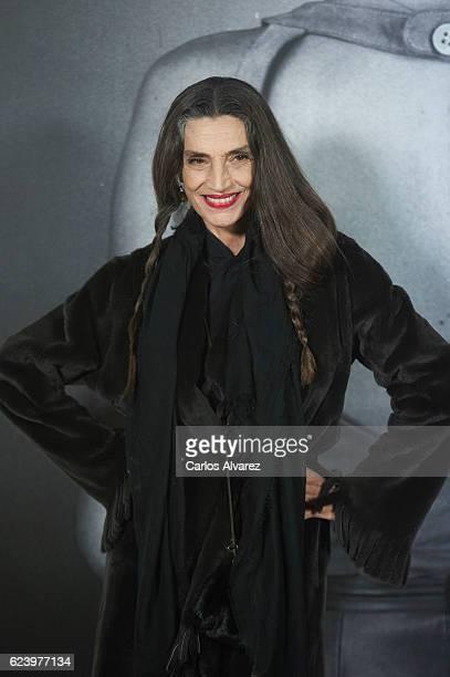 Angela Molina attends 'LOEWE Past Present Future' exhibition at Jardin Botanico on November 17 2016 in Madrid Spain