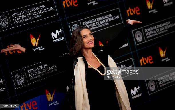 Angela Molina attends 'Submergence' premiere during 65th San Sebastian Film Festival on September 22 2017 in San Sebastian Spain
