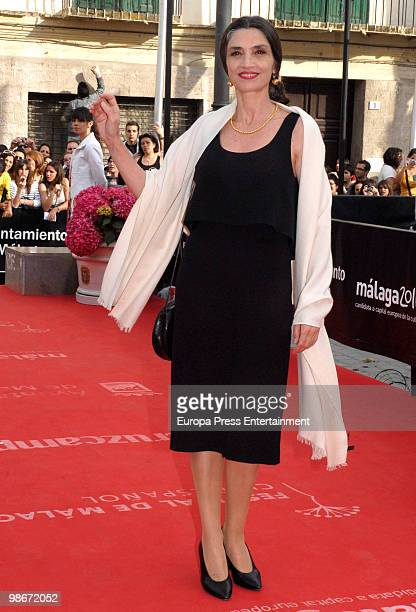 Angela Molina attends the 13th Malaga Film Festival on April 26 2010 in Malaga Spain