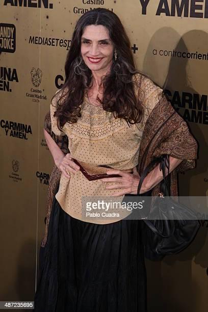 Angela Molina attends the 'Carmina y Amen' premiere at the Callao cinema on April 28 2014 in Madrid Spain