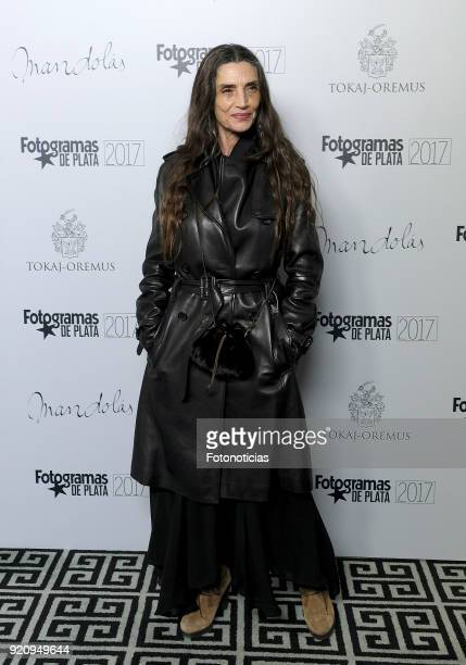 Angela Molina attends the 'Fotogramas de Plata' awards candidates dinner at The Santo Mauro Hotel on February 19 2018 in Madrid Spain