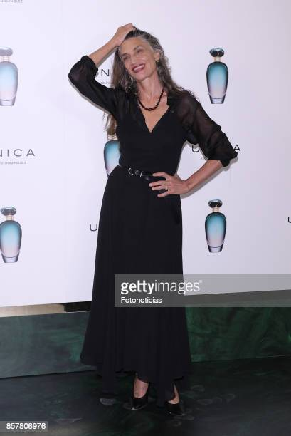 Angela Molina attends the launch of the new Adolfo Dominguez fragrance at Fundacion Instante on October 5 2017 in Madrid Spain