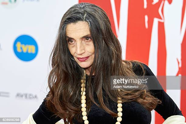 Angela Molina poses on the red carpet during the European Film Awards 2016 at The National Forum of Music on December 10 2016 in Wroclaw Poland