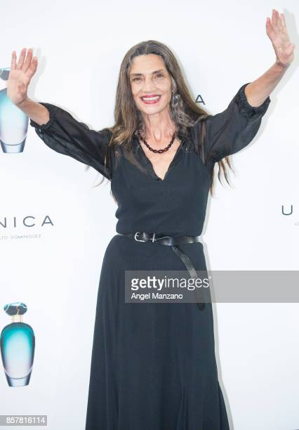 Angela Molina presents the Adolfo Dominguez's new fragance 'Unica' on October 5 2017 in Madrid Spain