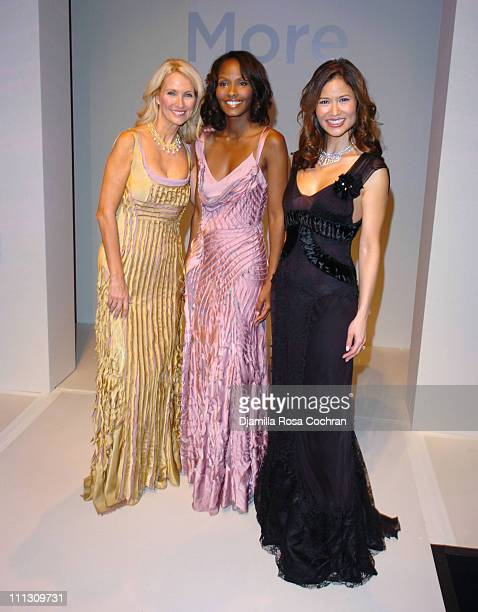Angela Paul Thea Kelly and Cynthia Gouw during The Winners of the 6th Annual More Magazine Wilhelmina 40 Model Search at Cipriani in New York City...