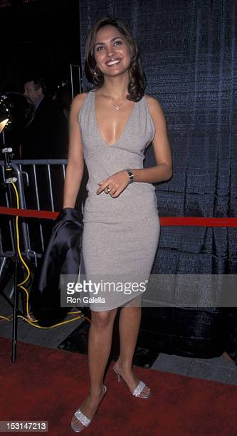Angela Perez Baraquio attends the grand opening of Hollywood Times Square on November 13 2000 at Planet Hollywood in New York City