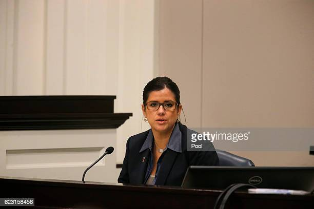 Angela Peterson a South Carolina Law Enforcement Division agent in charge of the investigation testifies during the trial of former North Charleston...