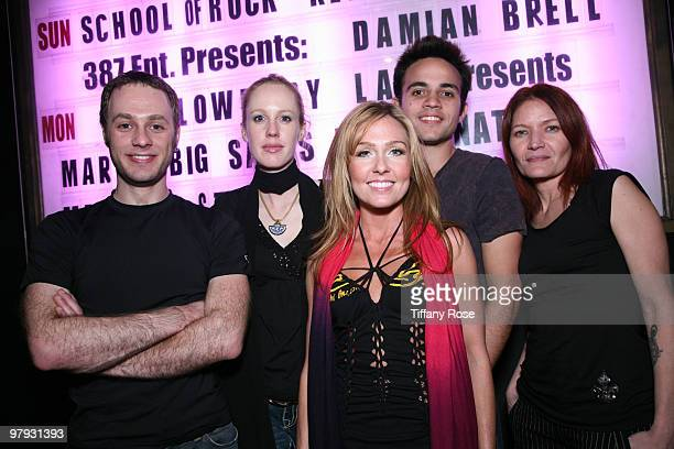 Angela Peterson and her band attend 'DC Entertainment Presents New Zealand Sensation Damian Brell' at The Mint on March 21 2010 in Los Angeles...