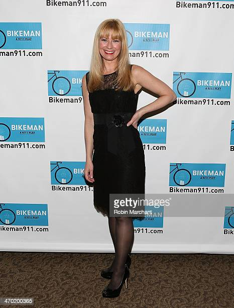 Angela Pierce attends The Company Of Bikeman A 9/11 Play Opening Night After Party at The Palm Tribeca on February 18 2014 in New York City