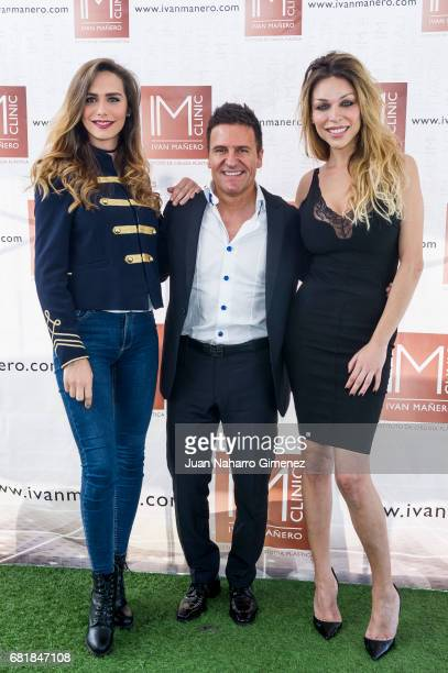 Angela Ponce Ivan Manero and Vittoria Schisano attend 'IMCLINIC' 15th Anniversary photocall at Hotel Room Mate Oscar on May 11 2017 in Madrid Spain